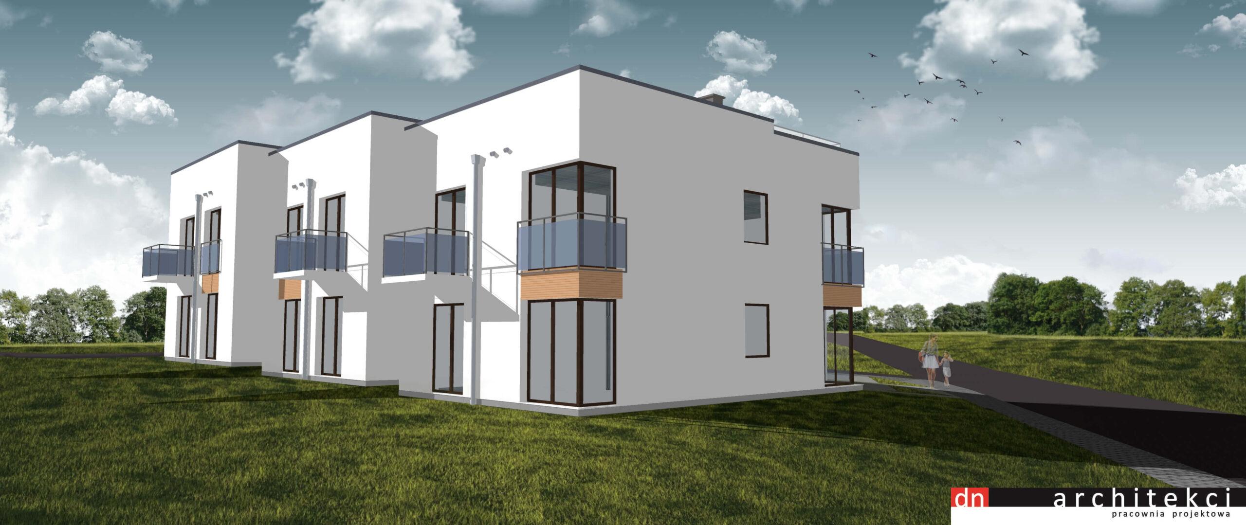 Wizualizacja - osiedle domków